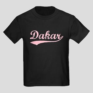 Vintage Dakar (Pink) Kids Dark T-Shirt