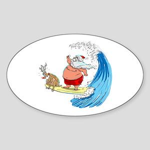 SaNtA aNd RuDoLf Oval Sticker