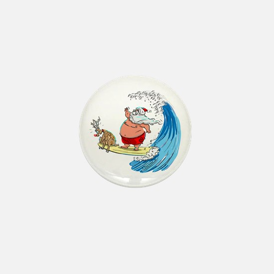 SaNtA aNd RuDoLf Mini Button