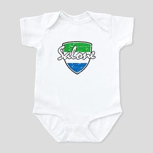 Salone distressed flag Infant Bodysuit