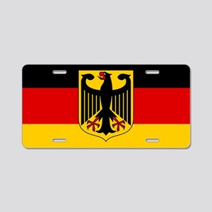 German Eagle Flag Aluminum License Plate