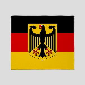 German Eagle Flag Throw Blanket