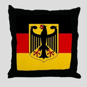German Eagle Flag Throw Pillow