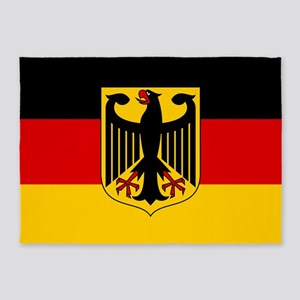 German Eagle Flag 5'x7'Area Rug