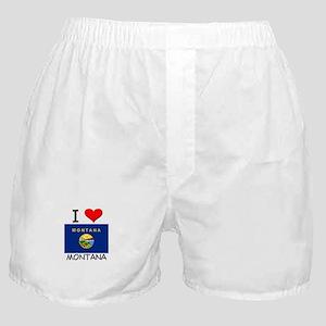 I Love Montana Boxer Shorts
