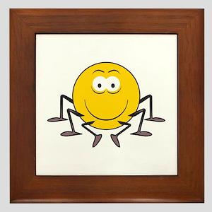 Spider Smiley Face Framed Tile