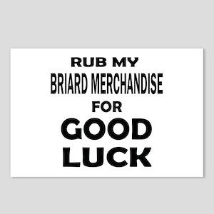 Rub My Briard Merchandise Postcards (Package of 8)