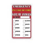 Emergency Fire Save My Pets Rectangle Sticker 10