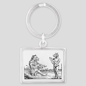 Medieval Werewolf Couple Keychains
