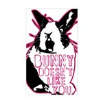 Bunny Doesn't Like You Sticker (Rectangle)