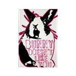 Bunny Doesn't Like You Rectangle Magnet
