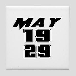May 1929 Birthday Tile Coaster