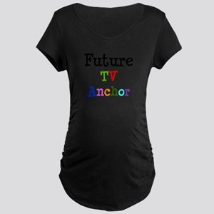TV Anchor Maternity Dark T-Shirt