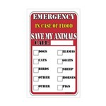 Emergency Flood Save my Pets Rectangle Sticker
