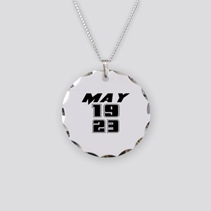 May 1923 Birthday Necklace Circle Charm