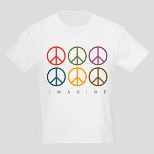 Imagine - Six Signs of Peace Kids Light T-Shirt