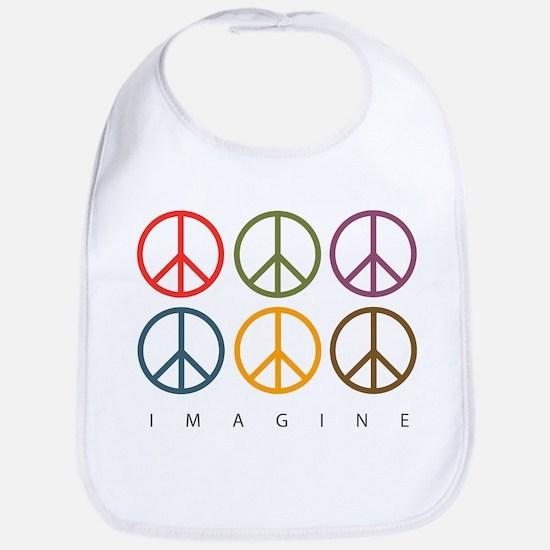 Imagine - Six Signs of Peace Bib