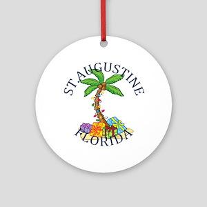 Summer st. augustine- florida Round Ornament