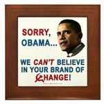 Sorry, Obama! Framed Tile