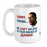 Sorry, Obama! Large Mug