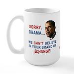 Sorry, Obama! Large Mug