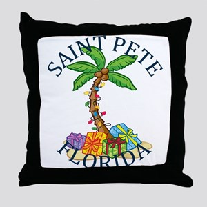 Summer saint pete- florida Throw Pillow