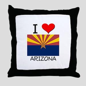 I Love Arizona Throw Pillow