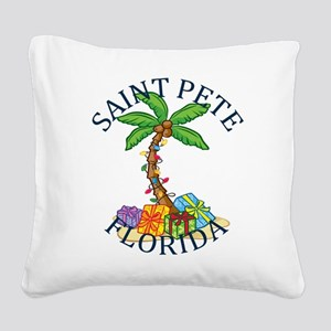 Summer saint pete- florida Square Canvas Pillow