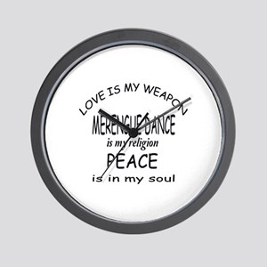 Merengue dance Is My Religion Wall Clock