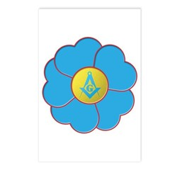 Masonic Forget Me Not Postcards (Package of 8)