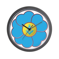 Masonic Forget Me Not Wall Clock