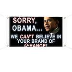 Sorry, Obama! Banner