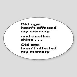 OLD AGE Oval Sticker