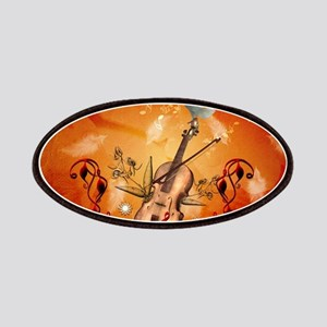 Violin with violin bow and dove Patch