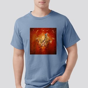 Violin with violin bow and dove T-Shirt