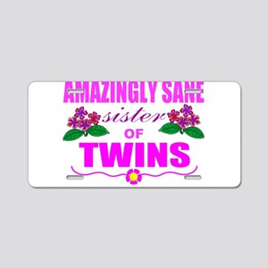 Twins sister sane Aluminum License Plate