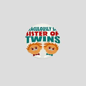 Twins sister sane Mini Button