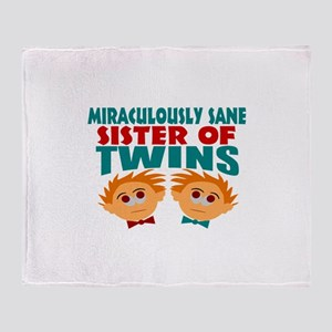 Twins sister sane Throw Blanket