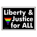 Liberty and Justice for All Banner
