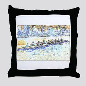 CREW LINES Throw Pillow