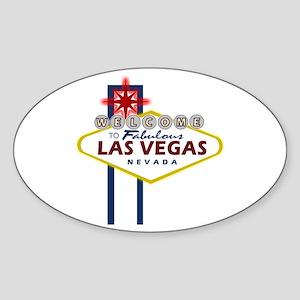 Las Vegas Sign Oval Sticker