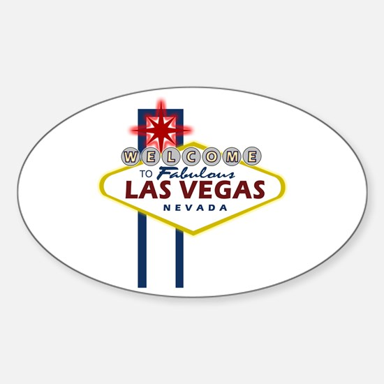 Las Vegas Sign Oval Decal