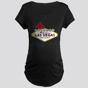 Las Vegas Sign Maternity Dark T-Shirt
