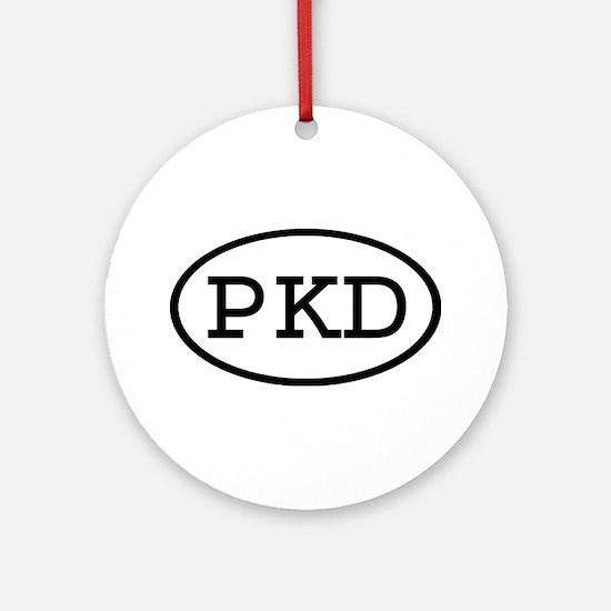 PKD Oval Ornament (Round)