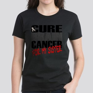 Cure Brain Cancer -- For my Sister Women's Dark T-