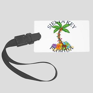 Summer siesta key- florida Large Luggage Tag