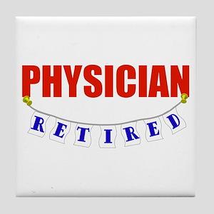 Retired Physician Tile Coaster