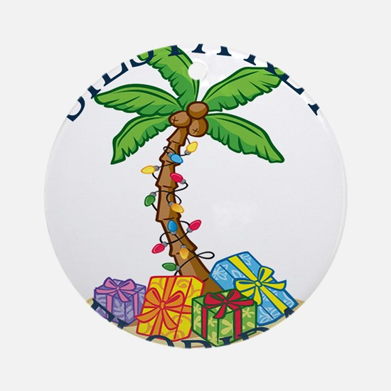 Summer siesta key- florida Round Ornament