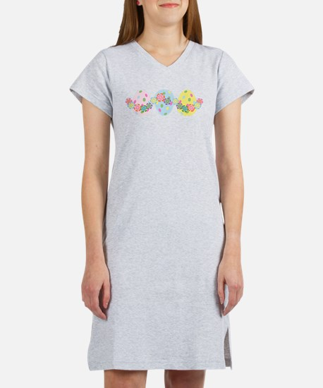 Easter Eggs 'n Garland Women's Nightshirt