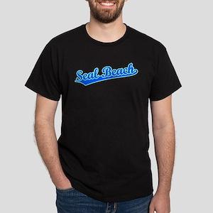 Retro Seal Beach (Blue) Dark T-Shirt